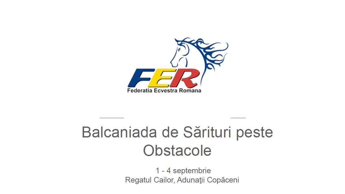 Balcaniada de Sărituri peste Obstacole 1-4 Sept 2016